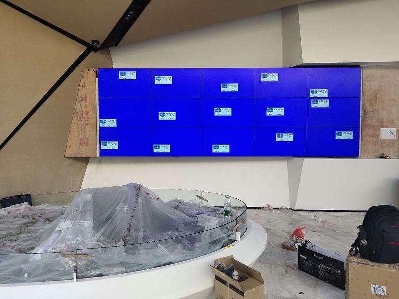 中亿睿液晶拼接屏助力武汉万科'城市之光'项目顺利竣工