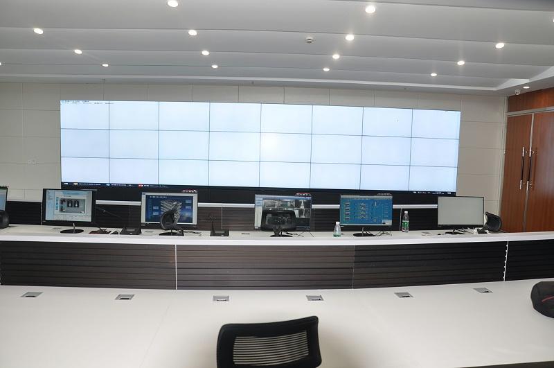 平安数据中心液晶拼接大屏效果图