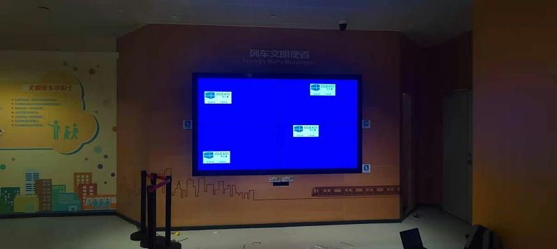 广州地铁博物馆液晶拼接屏项目安装现场