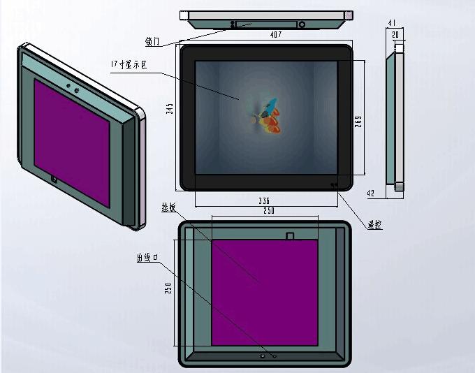 17寸液晶壁挂广告机