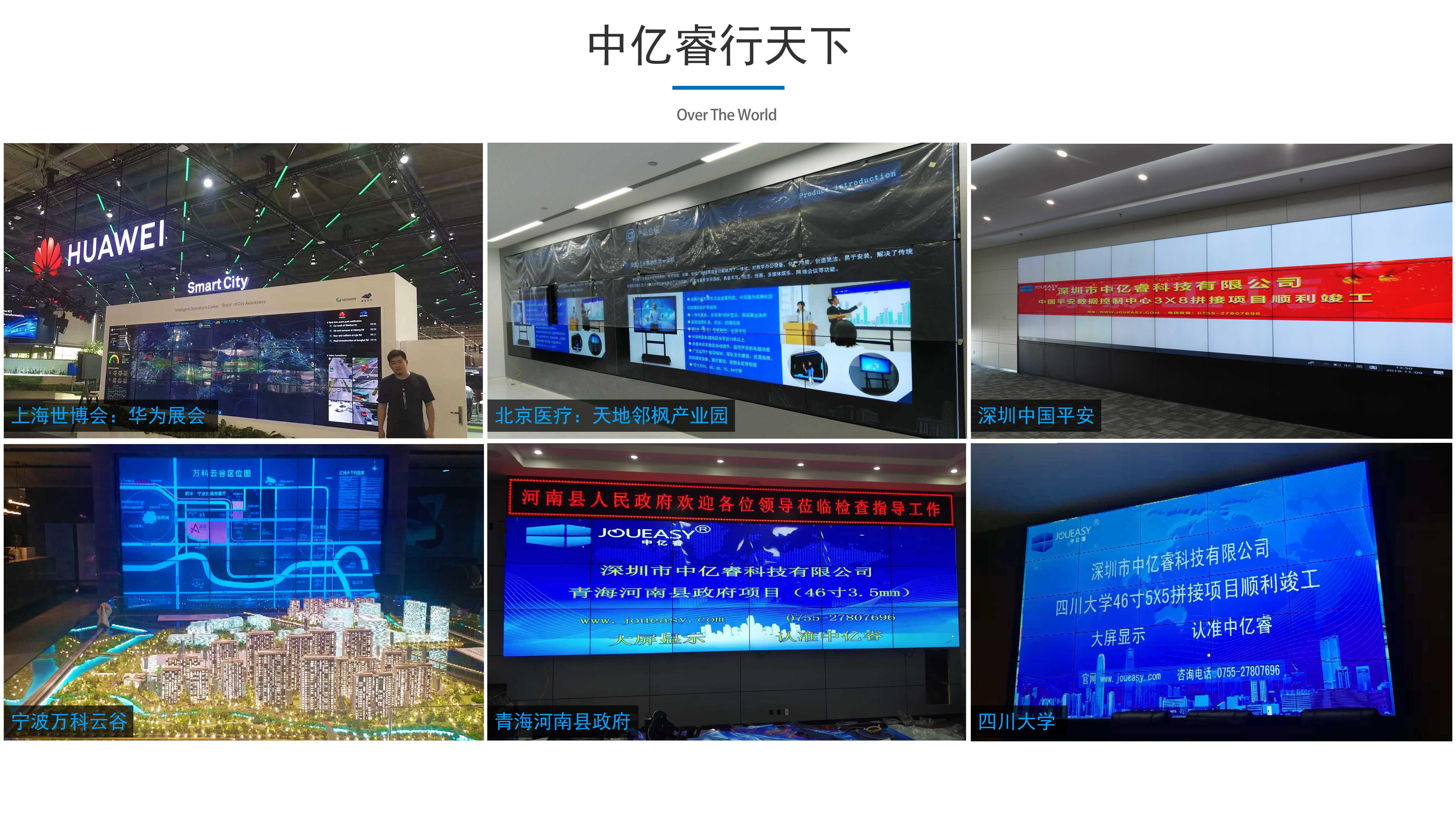 各行业液晶拼接屏系统解决方案应用
