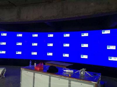 中亿睿55寸液晶拼接屏构建山西某银行多媒体服务中心