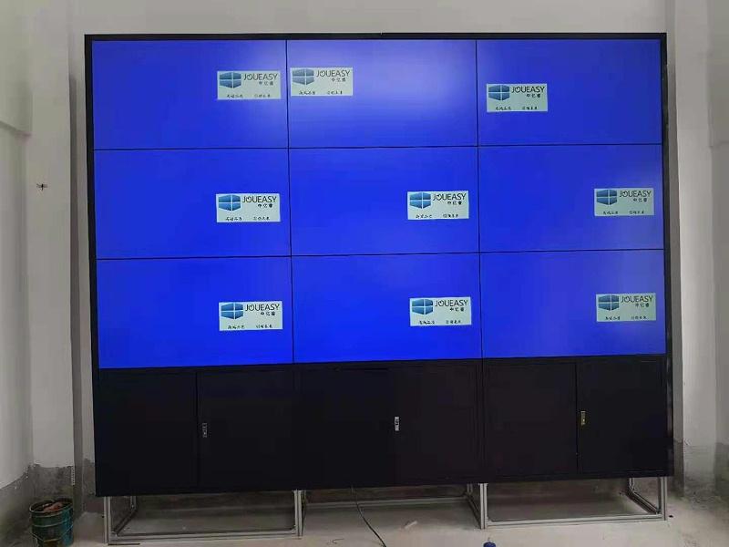 企业展厅9台3.5拼缝液晶拼接屏案例