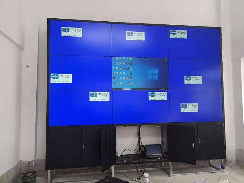 企业展厅9台3.5拼缝液晶拼接屏案例效果展示