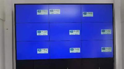 企业展厅9台3.5拼缝液晶拼接屏案例-赣州逸豪新材料公司