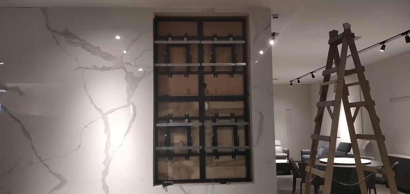 中亿睿55寸超窄边液晶拼接屏应用广东深圳国际艺展中心槺柏智能家居