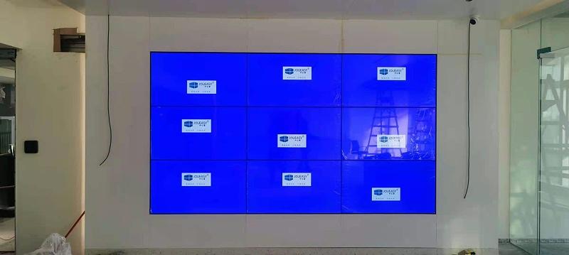 中亿睿49寸拼接屏成功入驻深圳宝安金港商务大厦展厅项目按照现场