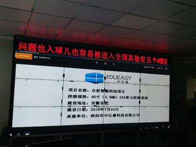 中亿睿46寸液晶拼接屏打造合肥某智能科技多媒体会议系统平台