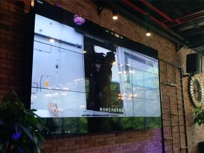 中亿睿55寸液晶拼接屏应用贵州贵阳白鹭小酒馆,助其提升用户体验