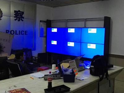 中亿睿46寸云拼接屏应用于东莞派出所监控中心