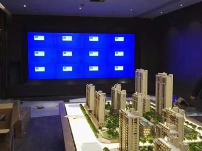 江苏南京万科销售楼盘46寸3.5mm3X4单元液晶拼接屏项目