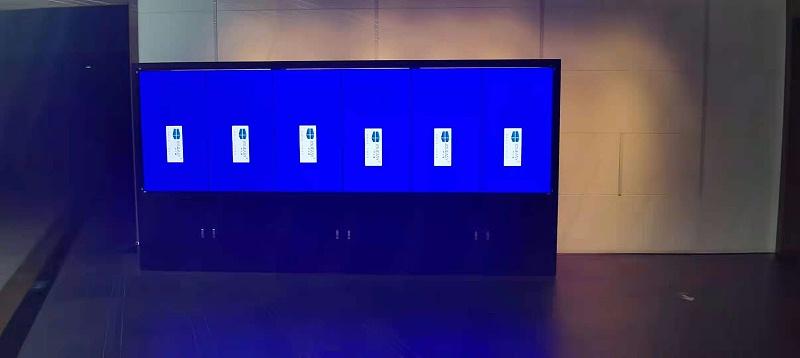 中亿睿6台竖屏拼接屏为江苏苏州丝绸博物馆打造数字化展馆项目安装现场