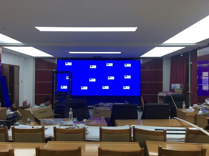 中亿睿液晶拼接屏助力青海铜仁市公安局视频会议拼接屏项目顺利竣工