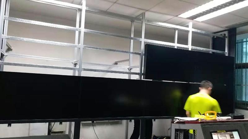 北京高能所46寸液晶拼接屏3X4拼接单元效果展示