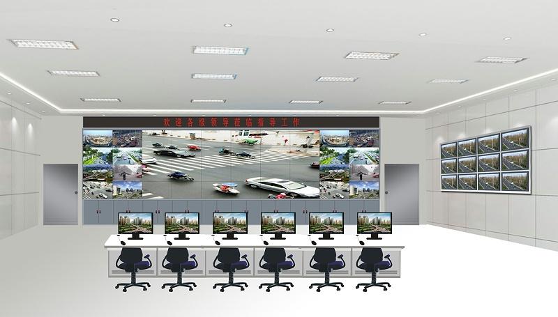 液晶拼接屏与液晶监视器组合使用效果图