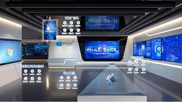 现代科技展厅中的显示设备