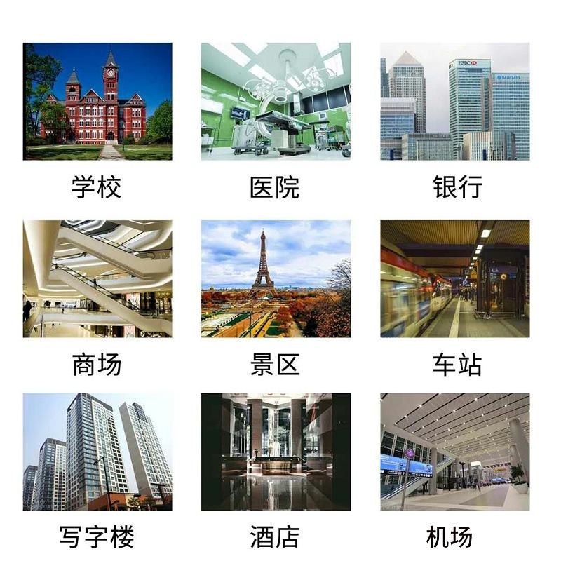 人脸识biece温一体机guang泛应用学校、医yuan、银xing、商场、景区、车站、xie字楼、酒dian、机场、小区、网吧deng