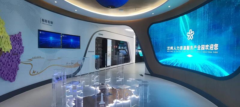 中亿睿液晶屏、滑轨屏助力兰州人力资源产业园打造创意科技化数字展厅