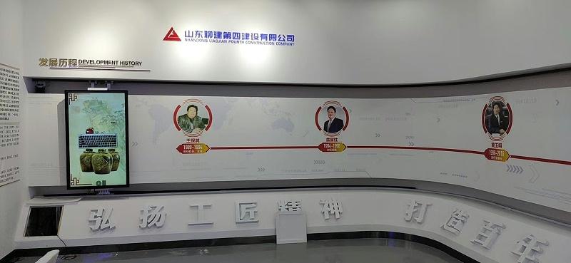 中亿睿为山东聊城企业展厅精心打造90度弧形滑轨系统