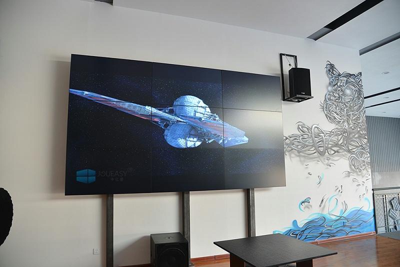宁夏吉普4S店55寸液晶拼接屏项目
