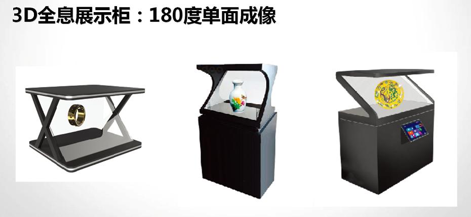 3D全息展示柜:180度单面成像