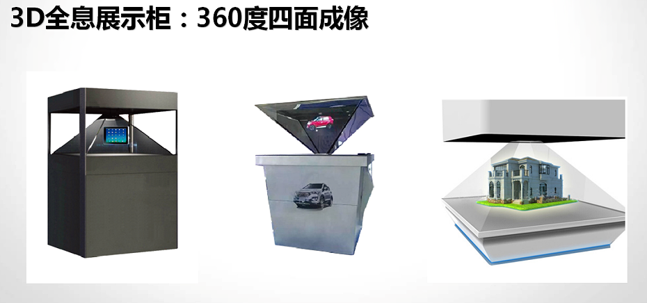 3D全息展示柜:360度四面成像