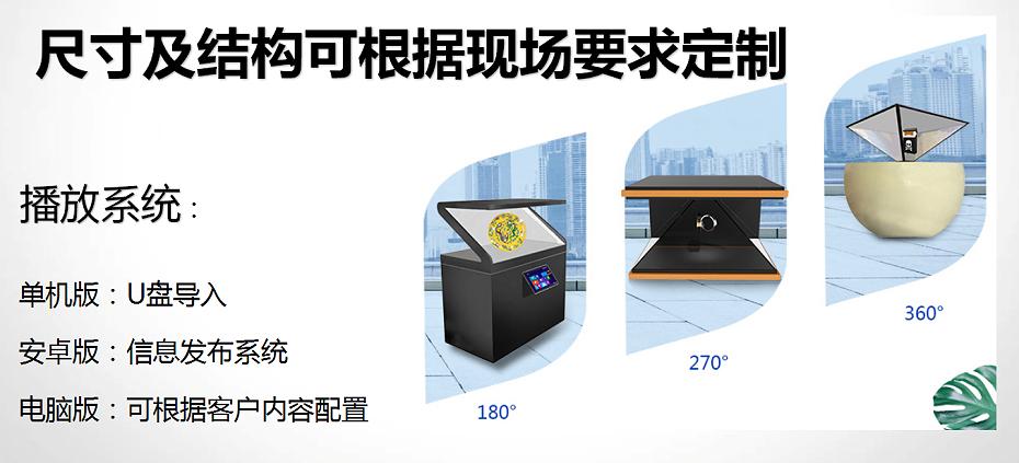 3D全息展示柜系统