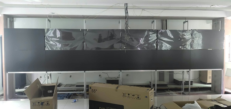 亿睿液晶拼接屏联手湖南武警作战指挥所构建可视化展示系统