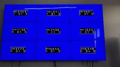 中亿睿49寸液晶拼接屏应用河南省沁润泽环保科技股份有限公司会议系统