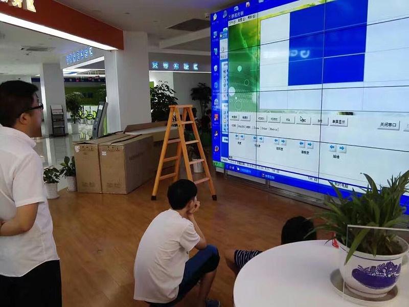 内蒙古鄂尔多斯中国电信55寸液晶拼接屏4X4单元拼接