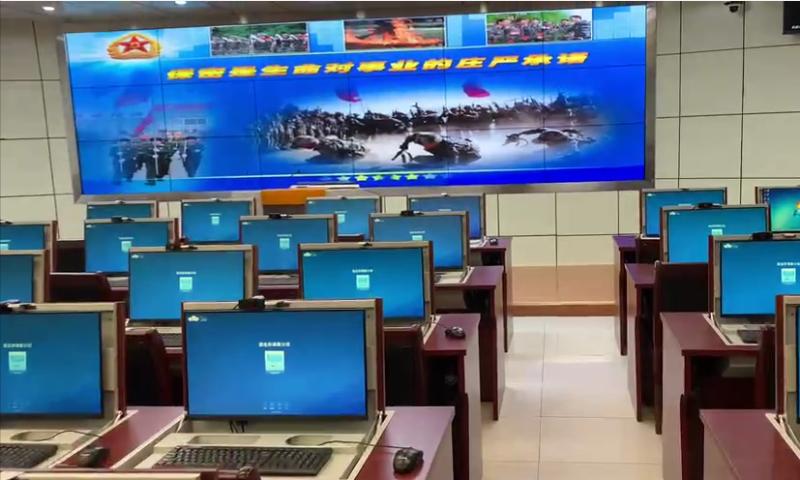中亿睿液晶拼接屏助力新疆某部军事职业教学在线学习室项目顺利竣工