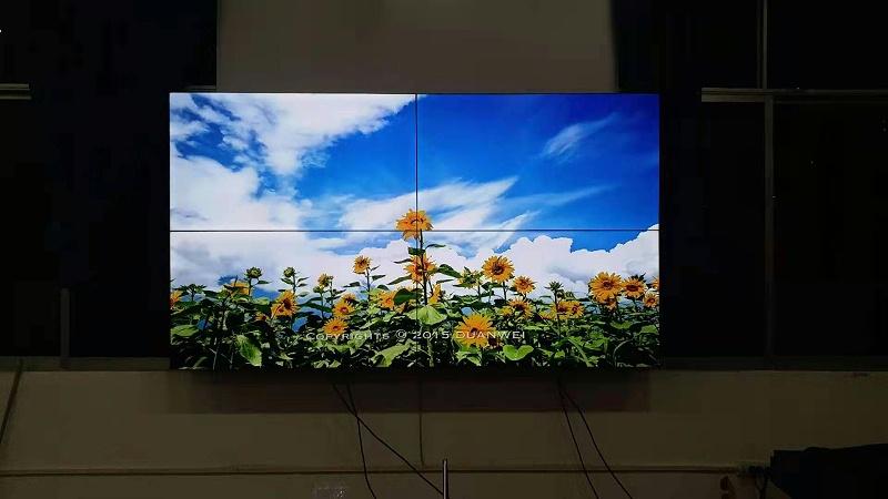中亿睿55寸3.5mm液晶拼接屏应用贵州金沙县应急广播中心