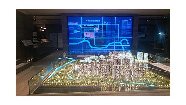 液晶拼接屏在房地产售楼中心展示厅中的应用