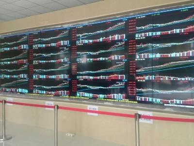 中亿睿55寸液晶拼接屏品牌构建惠州证券中心营业厅