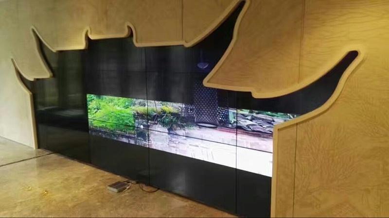 浙江宁波万科桂语里55寸3.5mm3X5单元液晶拼接屏项目